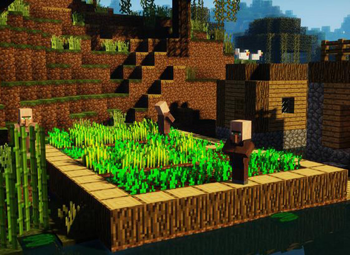 Uma bela vila de camponeses.