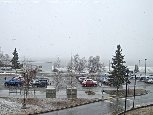 Mixed Rain And Snow Was Reported From The Airport During The Morning Hours And There Was A Brief Threat Of A Fresh Snow Cover At Uaf