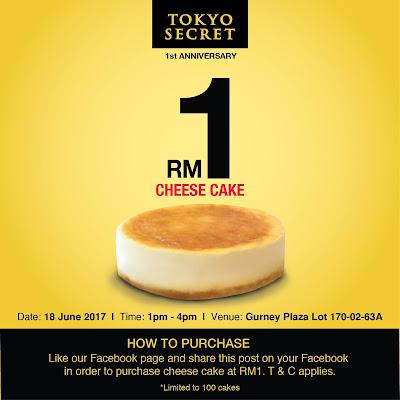 Tokyo Secret Cheese Cake RM1 Deal Penang