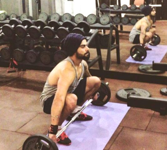 Motivational workout of Virat Kohli