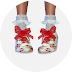 male_ribbon floral oxford & frill socks_남성용 리본 꽃무늬 옥스퍼드화 & 프릴 양말_남자 신발과 양말