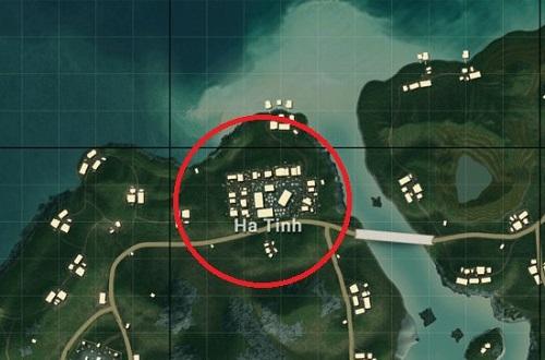 Địa danh Ha Tinh bên trên bản đồ Sanhok