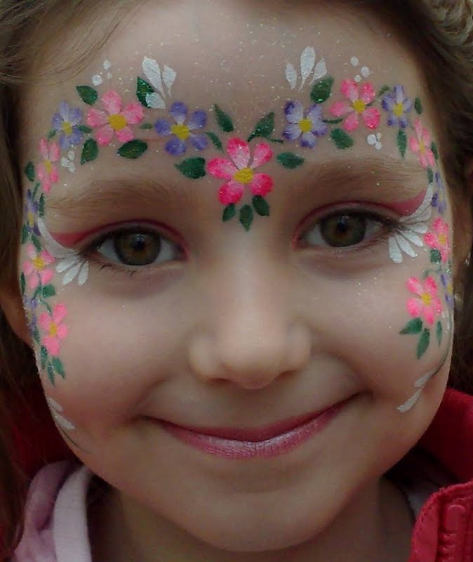 The Official Blog for Flour: Inspiration: Flower Face Painting