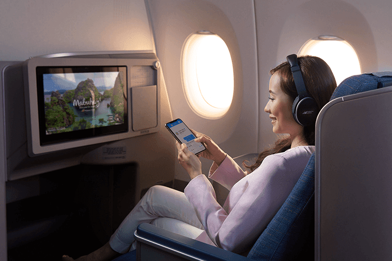Philippine Airlines now has Asia's first Hi-Speed FREE WiFi for long flights!