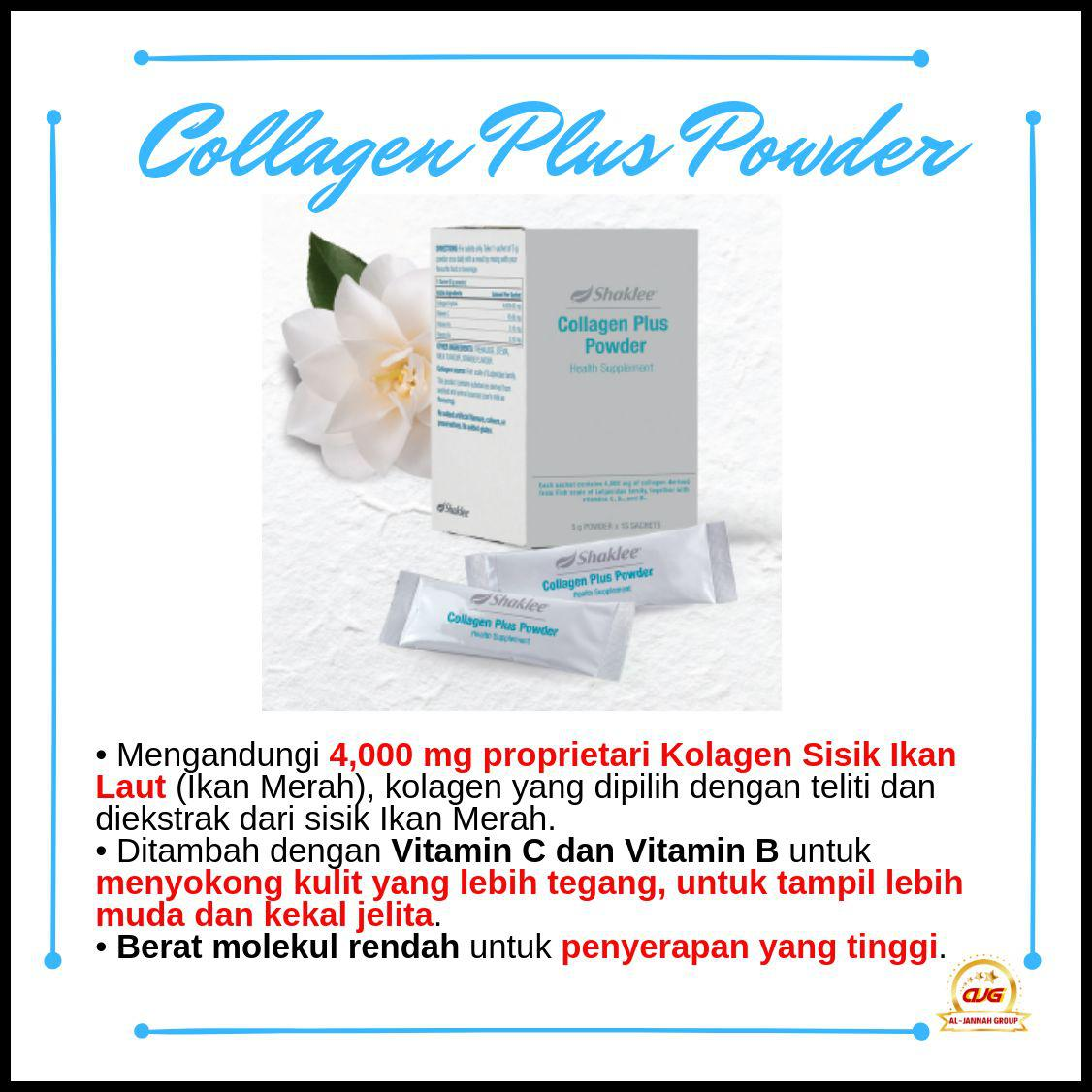 shaklee collagen plus powder beza dengan kolagen lain