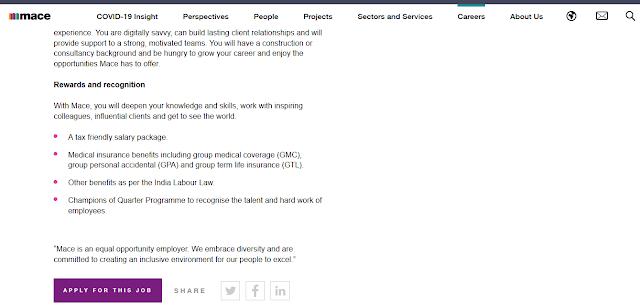 Civil Engineering Job From Mace for Senior Engineer  - MEP in Delhi
