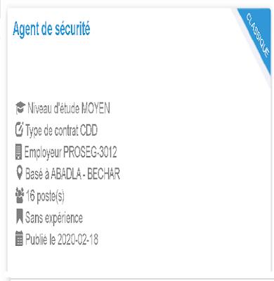 Agent de sécurité Employeur  PROSEG-3012