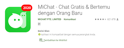 aplikasi cari jodoh gratis miChat