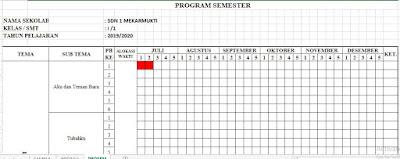 Program Semester 1 dan 2 Kelas 1 SD Tahun Ajaran 2019/2020, http://www.librarypendidikan.com/