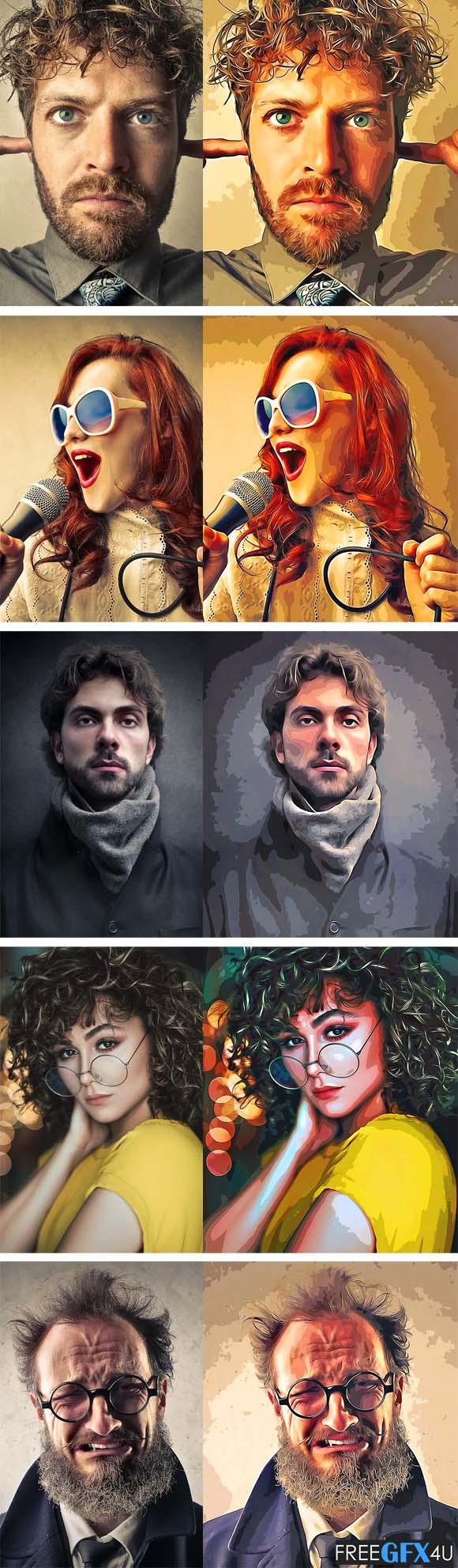 Oil Paint Cartoonizer Action
