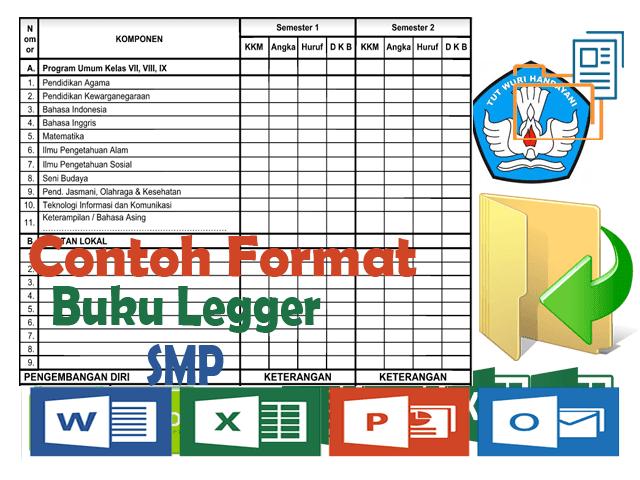 Download Contoh File Format Buku Legger SD/MI, SMP, SMA, SMK