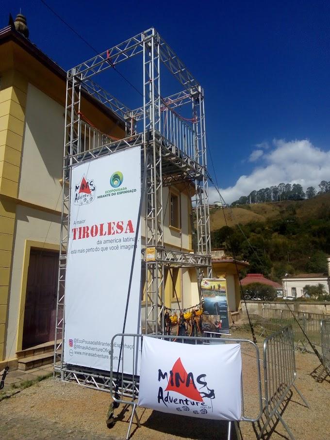 Tirolesa, escalada no Festival de Turismo em Ouro Preto 2019