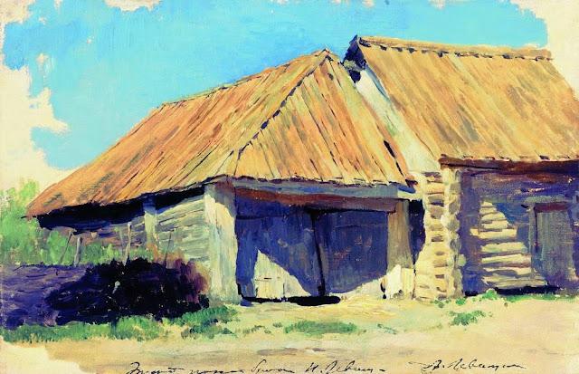 Исаак Ильич Левитан - Конюшня (Сарай). 1880-е