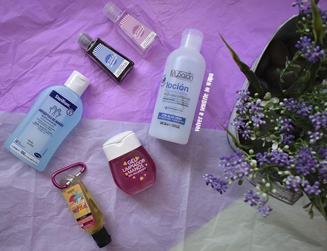 Higienizadores y geles limpiadores de manos