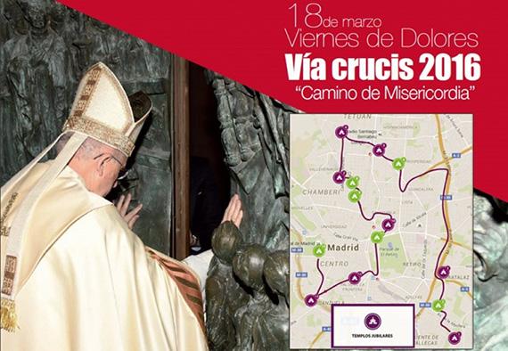 Vía Crucis Madrid 2016. Viernes 18 de marzo