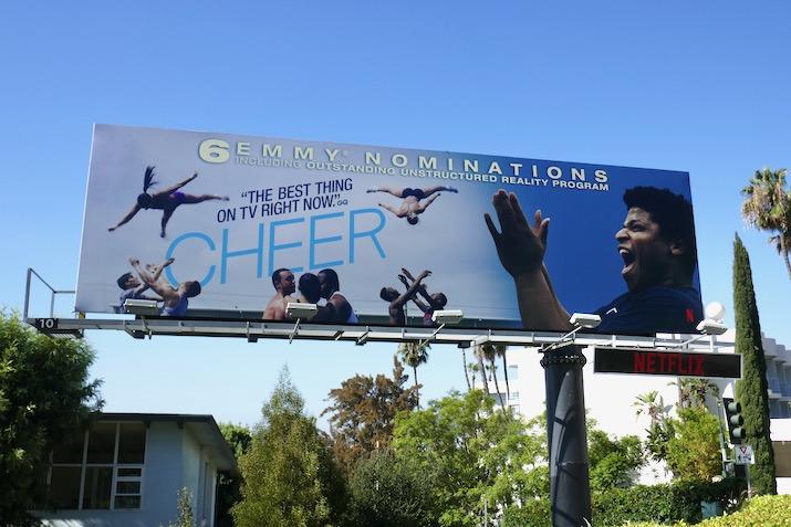 Cheer 2020 Emmy nominee billboard
