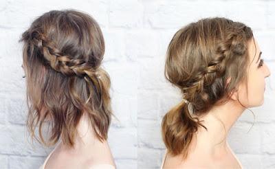 Rambut Pendek Kepang