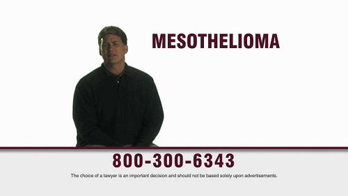 Who is the actor in the mesothelioma commercial