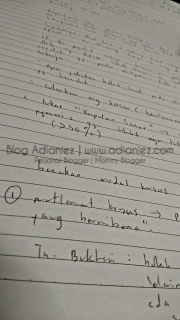 Blogger Challenge No. 3 | Picture of your handwriting