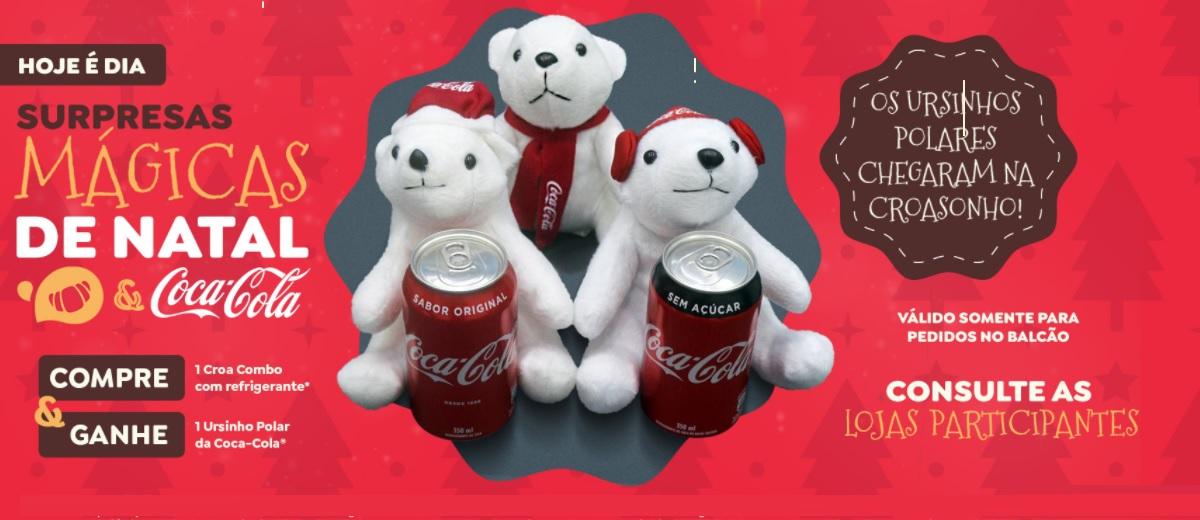 Promoção Croasonho Natal 2020 Ganhe Urso Pelúcia Coca-Cola - Surpresas Mágicas de Natal