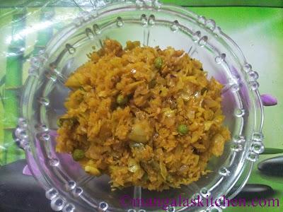 Cabbage Peas Masala Stir fry