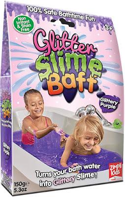 glitter slime baff
