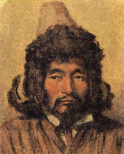 Василий Васильевич Верещагин - Казах в меховой шапке. 1867