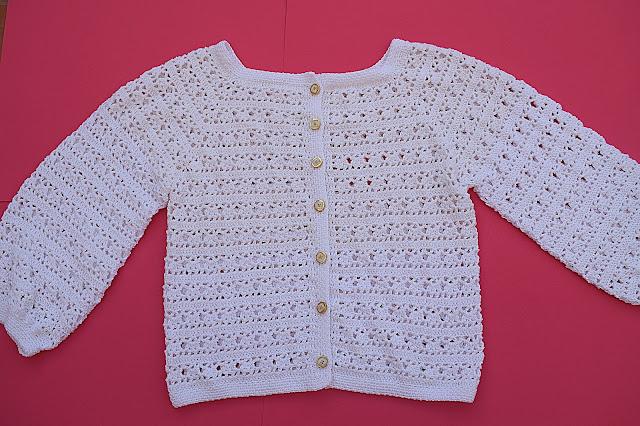 6 - Crochet Imagen Chaqueta blanca a crochet y ganchillo por Majovel Crochet