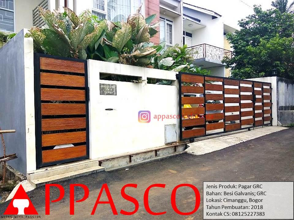 Pagar Minimalis Modern Kayu GRC di Cimanggu Bogor