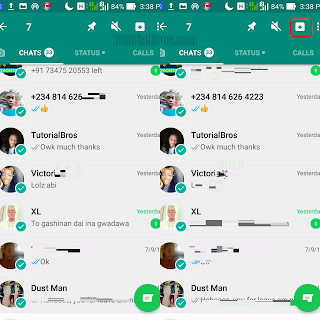 How to hide WhatsApp chat from showing on WhatsApp chat interface