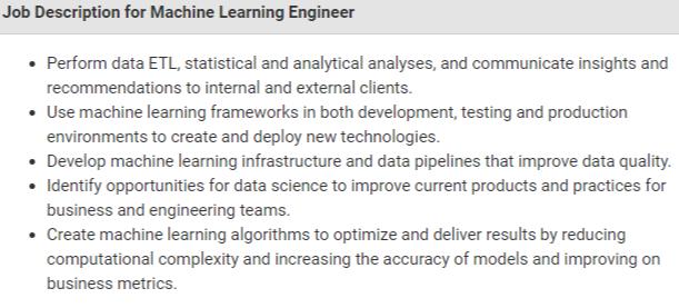 Machine Learning Engineer Salary - Job Description & Salary