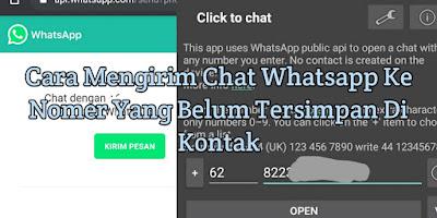 2 Cara Mengirim Chat Whatsapp Ke Nomer Yang Belum Tersimpan Di Kontak