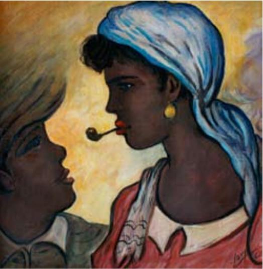 Mujer con pipa, 1961