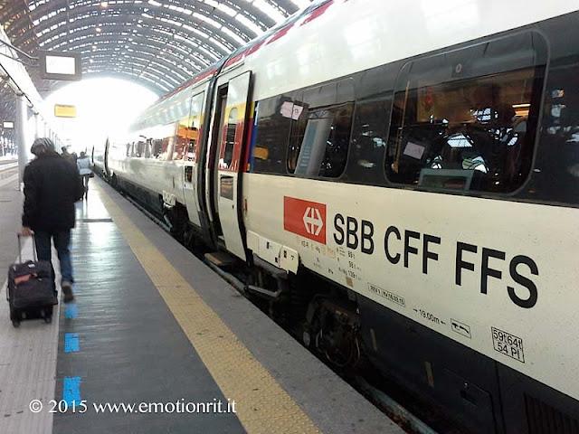 Viaggio in treno in Svizzera