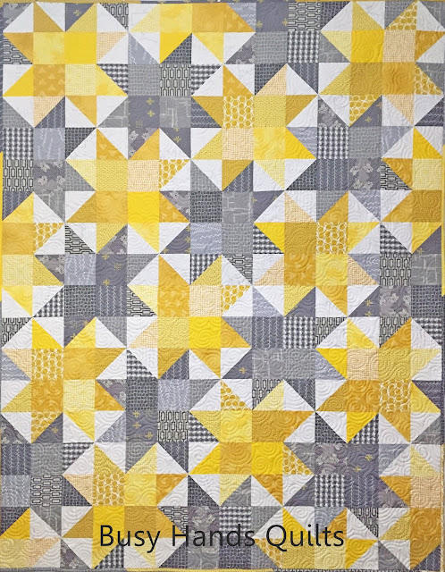 Sunnyside Lap Quilt in Yellows and Grays!