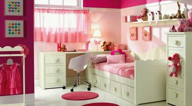 Decoracion actual de moda redecorando el cuarto de ni a en blanco y rosa - Habitaciones infantiles en blanco ...