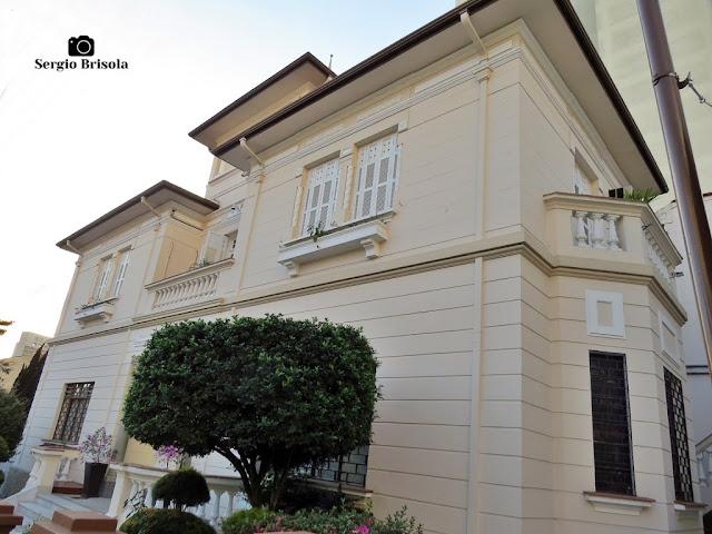 Vista de um Casarão antigo na Rua Capitão Cavalcanti, 38 - Vila Mariana - São Paulo