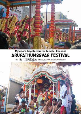 Arupathumoovar Festival Mylapore Kapaleeswarar Temple Pinterest