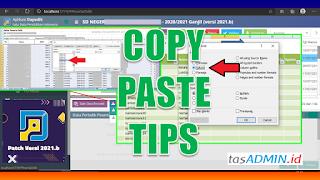 Copy Data Siswa Dapodik Ke Aplikasi Raport Excel