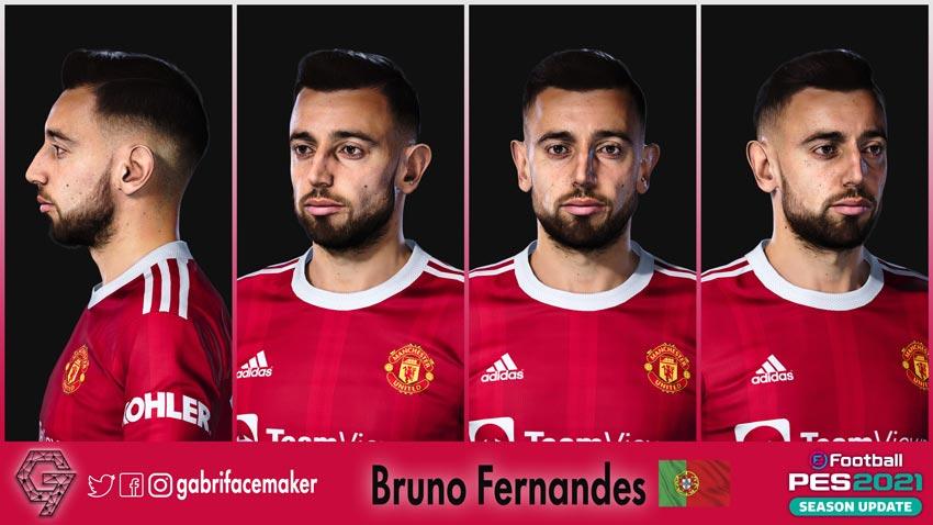 Bruno Fernandes Face For eFootball PES 2021