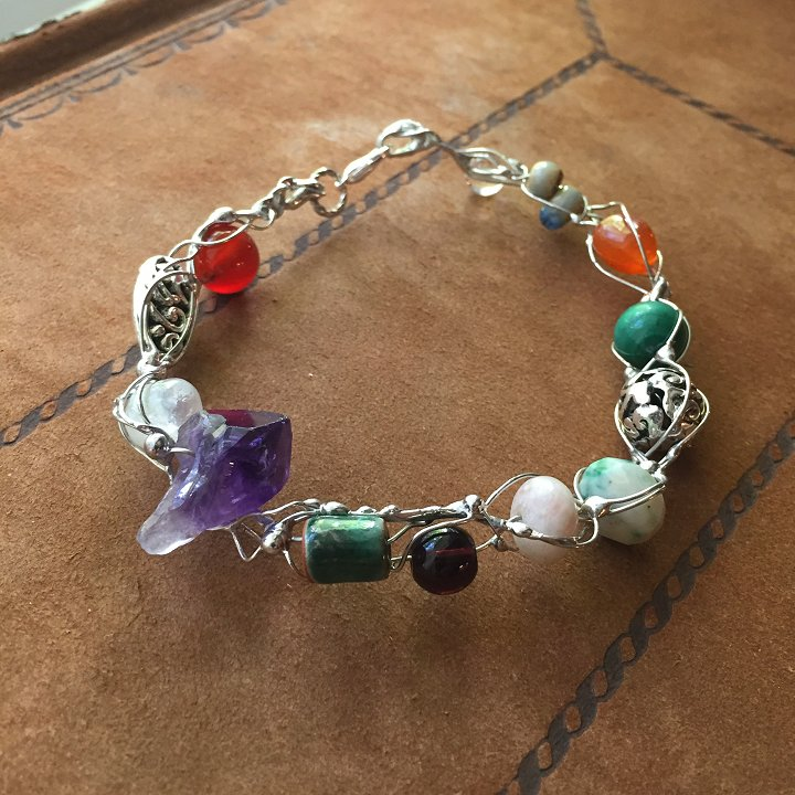 Bejeweled fairy ring bracelets by Laura Love, Emmaus, PA.