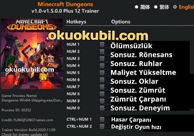Minecraft Dungeons v1.0-v1.5.0.0 Can + Hasar Trainer +12- Flıng- İndir Güncel 2020