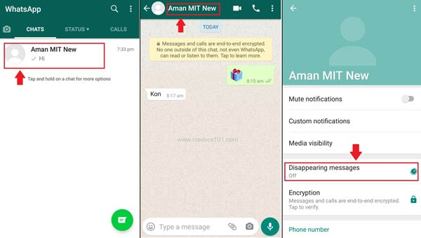 How to enable the disappearing messages feature on WhatsApp