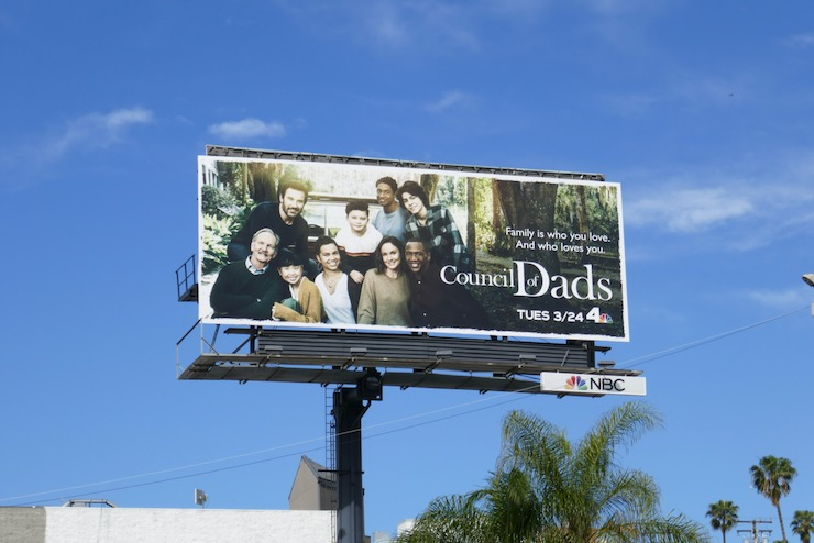 Council of Dads NBC series billboard