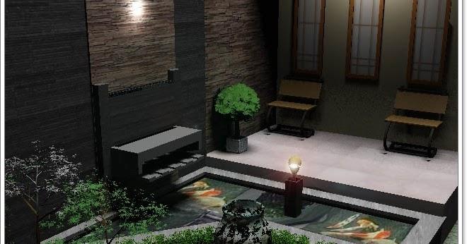 kolam ikan mini untuk mempercantik rumah minimalis info