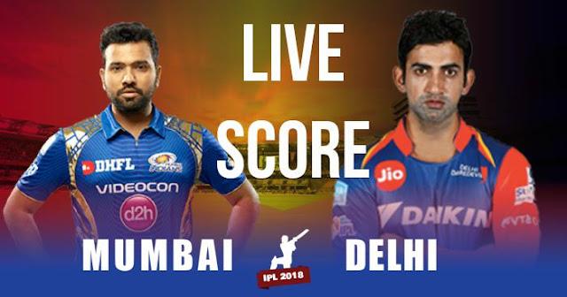 IPL 2018 Match 9: MI vs DD: Live Socre and Full Scorecard