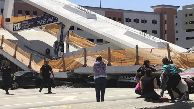Hay muertes y varias personas heridas después de que un puente peatonal colapsó en la Universidad Internacional de Florida