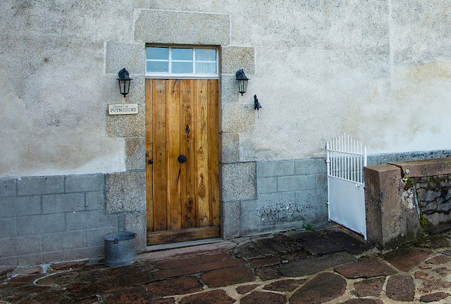 Solid oak front door, hand made, oak front door, Chateau de Puymouche,