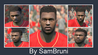 PES 2016 Daniel Sturridge (Liverpool) Face V2 by SamBruni