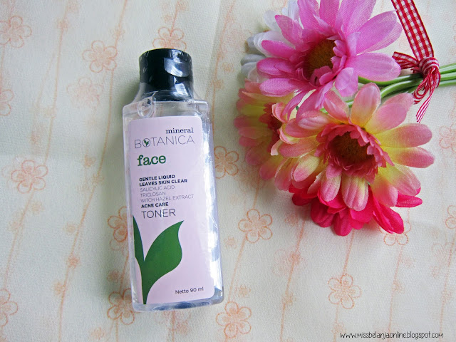 Mineral botanica acne care face toner